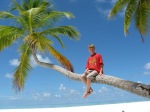 Maldives Boy on Palm Tree